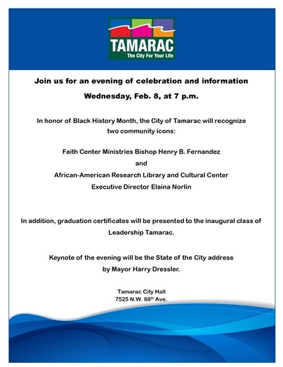 Join us for an evening of celebration and information on Wednesday, Feb. 8, at 7 pm.