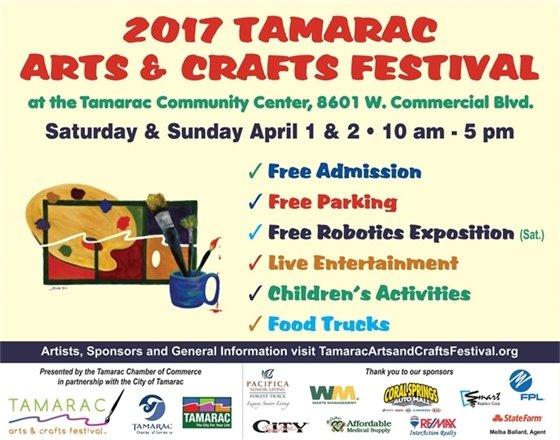 2017 Tamarac Arts & Crafts Festival Flyer