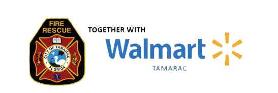 Tamarac Fire Rescue (logo) Together With Walmart (Logo) Tamarac