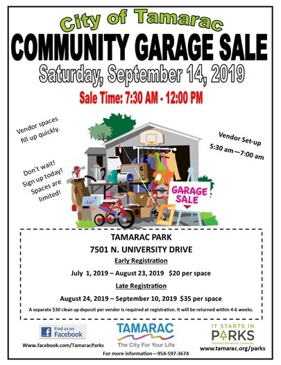 Tamarac Garage Sale Flyer