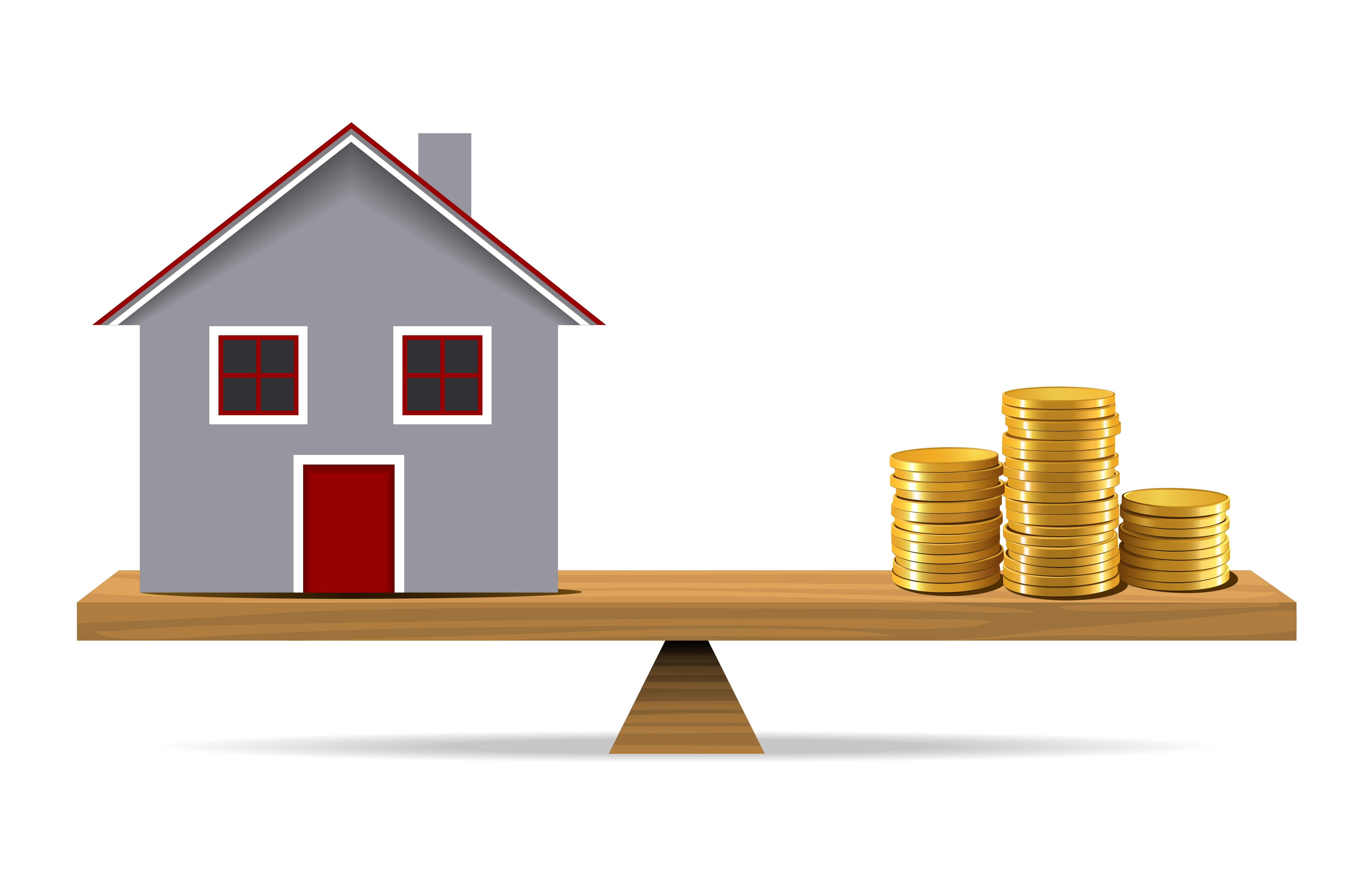 gold coins and mortgage house_istock_RESIZED1.jpg