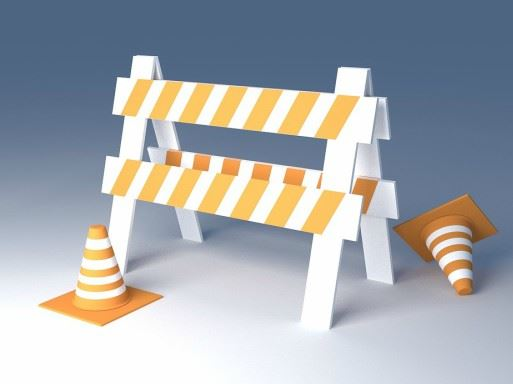 Road barrier and cone image