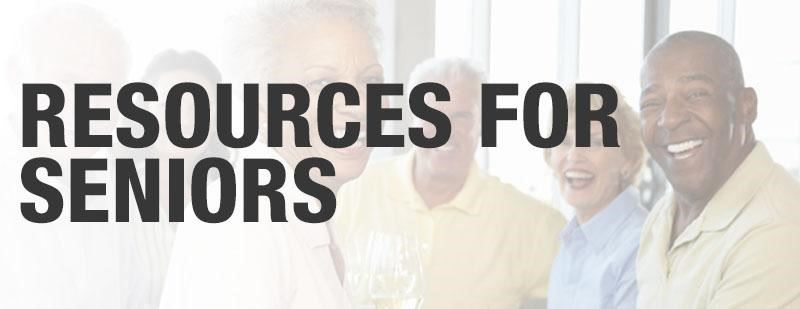 Images that say Resources for Seniors with people in background