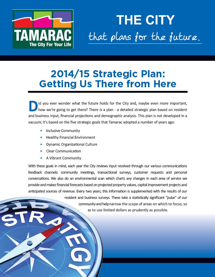 Tamarac, Fl - Official Website - Strategic Planning